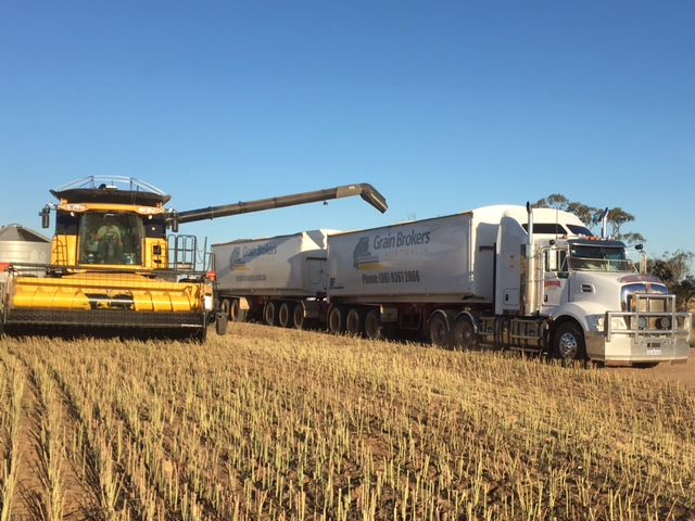 Grain Brokers Australia Aghaul Truck being filled