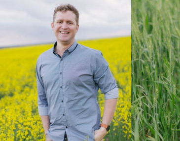 Nic Sewell in field | Grain Brokers