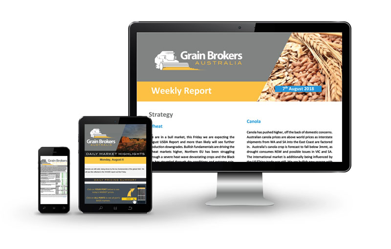 Grain Brokers on multiple devices
